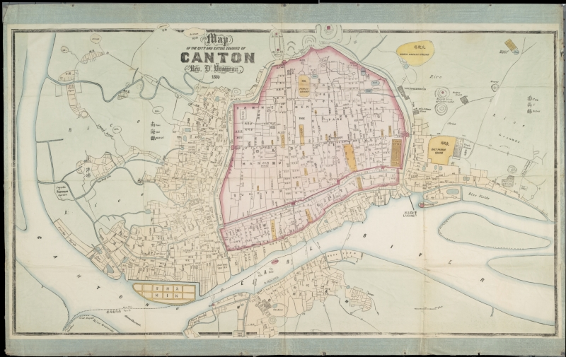 Map of the city and entire suburbs of Canton, 18..?
