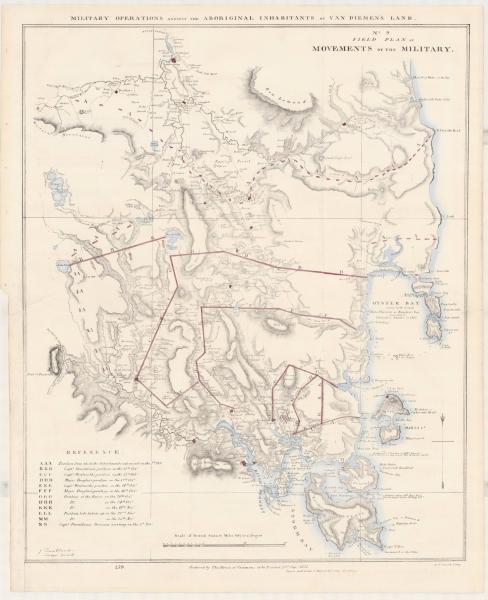 Military operations against the aboriginal inhabitants of Van Diemen's Land: Field Plan No.9