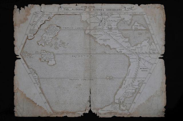 Tabula moderna alterius hemispherius, 1525